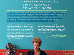November 8, 2015 – The Path to Padmasana  – The Shala, NYC